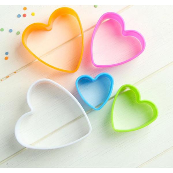 """Набор форм для печенья """"Сердце"""", 5 шт, 8,5*9см"""