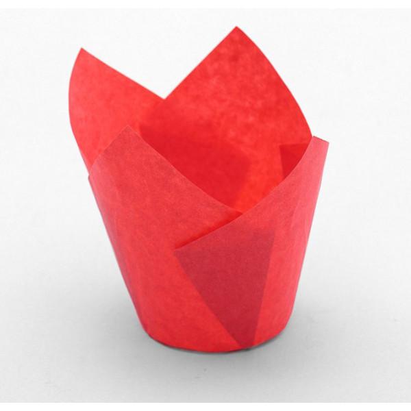"""Форма бумажная """"Тюльпан"""" 5 х 8 см, красная, 12шт."""
