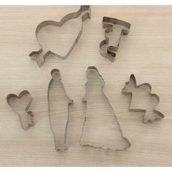 """Набор форм для вырезания печенья 6 шт """"Свидание"""", 16*15*2,5см"""