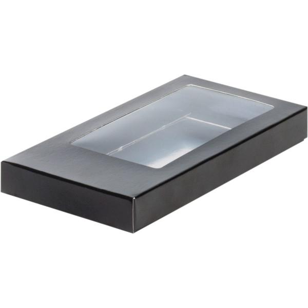 Коробка для шоколадной плитки 180*90*17мм (черная)